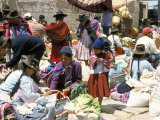 Sunday Market at Tarabuco, Near Sucre, Bolivia, South America Photographic Print by Tony Waltham