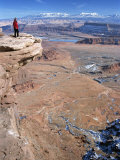 Cliff Edge 300M Above Red Desert Basin, Dead Horse Point State Park, USA Photographic Print by Tony Waltham
