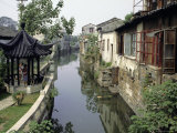 Venice of the East', Lined with Typical Houses, Eastern China Photographic Print by Tony Waltham