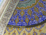 Detail of Tilework, Who was Assassinated in 661, Balkh Province, Afghanistan Photographic Print by Jane Sweeney