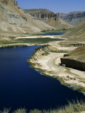 Band-I-Zulfiqar, the Main Lake at Band-E-Amir (Dam of the King), Afghanistan&#39;s First National Park Photographic Print by Jane Sweeney
