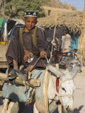 Boy on Donkey Cart, Maimana, Faryab Province, Afghanistan Photographic Print by Jane Sweeney