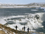 Gullfoss Waterfall in Winter, Golden Circle, Iceland, Polar Regions Photographic Print by Tony Waltham
