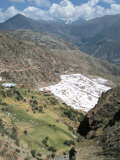 Inca Salt Pans Below Salt Spring, Salineras De Maras, Sacred Valley, Cuzco Region (Urabamba), Peru Photographic Print by Tony Waltham