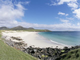 White Shell Sand on Cleabaigh Beach, Northwest Coast, South Harris, Western Isles Photographic Print by Tony Waltham