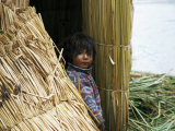 Little Boy, Uros Floating Reed Island, Lake Titicaca, Peru, South America Photographic Print by Jane Sweeney