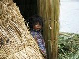 Little Boy, Uros Floating Reed Island, Lake Titicaca, Peru, South America Photographic Print by Jane Sweeney