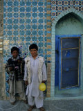 Street Boys at the Shrine of Hazrat of Ali, Mazar-I-Sharif, Afghanistan Photographic Print by Jane Sweeney