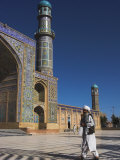 Man in Front of Friday Mosque or Masjet-E Jam, Herat, Afghanistan Photographic Print by Jane Sweeney