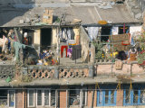 Rooftop Activity in Centre of City, Kathmandu, Nepal Photographic Print by Tony Waltham