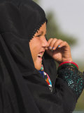 Young Girl in Burqa, Shrine of Hazrat Ali, Mazar-I-Sharif, Balkh Province, Afghanistan Photographic Print by Jane Sweeney