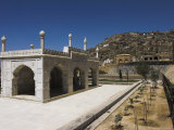 White Marble Mosque Built by Shah Jahan, Gardens of Babur, Kabul, Afghanistan Photographic Print by Jane Sweeney