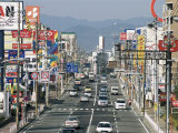 Main Road into Town, Kitakyushu, Kyushu, Japan Photographic Print by Tony Waltham