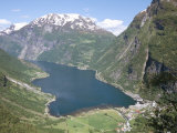Geiranger Fjord Seen from Flydalsgjuvet, Western Fiordlands, Norway, Scandinaiva Photographic Print by Tony Waltham