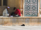 Men Sitting in Courtyard of Friday Mosque or Masjet-Ejam, Herat, Herat Province, Afghanistan Photographic Print by Jane Sweeney