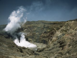 Steam Plume off Boiling Acid Lake, Naka-Dake Active Crater, Aso Volcano, Kyushu, Japan Photographic Print by Tony Waltham