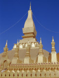 That Luang Stupa, Main Buddhist Temple and National Symbol of Laos, Laos, Indochina Photographic Print by Tony Waltham
