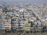 Centre of Old Delhi, Seen from Minaret of Jamia Mosque, Delhi, India Photographic Print by Tony Waltham