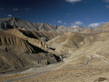 Crossing the Zanskar Mountains Near Pang, 4600M Altitude, Leh-Manali Highway, Ladakh, India Photographic Print by Tony Waltham