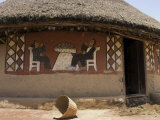 Painted Houses of the Alaba Peoples Near Kulito, Ethiopia, Africa Photographic Print by Jane Sweeney