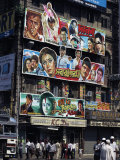 Film Advertisment Hoardings, Kolkata, (Calcutta), India Photographic Print by Tony Waltham