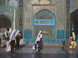 Pilgrims at the Shrine of Hazrat Ali, Mazar-I-Sharif, Afghanistan Photographic Print by Jane Sweeney