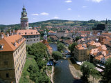 View of Cesky Krumlov from Castle, Cesky Krumlov, Czech Republic Photographic Print by Jane Sweeney