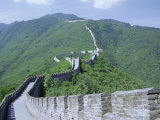 Restored Section of the Great Wall (Changcheng), Northeast of Beijing, Mutianyu, China Photographic Print by Tony Waltham