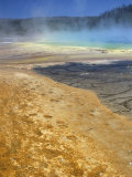Geyserite Terraces Coloured by Algal Mats, Midway Geyser Basin, Unesco World Heritage Site Photographic Print by Tony Waltham