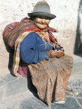 Local Resident, Cuzco, Peru, South America Fotografie-Druck von Tony Waltham