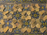 Detail of Original Tilework in Courtyard of the Friday Mosque or Masjet-Ejam, Herat, Afghanistan Photographic Print by Jane Sweeney