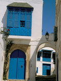 House Painted in Blue and White, Sidi Bou Said, Tunisia, North Africa, Africa Fotografisk tryk af Jane Sweeney
