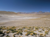 Altiplano and High-Level Volcanoes, El Tatio Basin, Above Calama, Atacama Desert, Chile Photographic Print by Tony Waltham