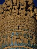 Detail of Decoration on the Minaret of Jam, in Around 1190, Unesco World Heritage Site Fotografiskt tryck av Jane Sweeney