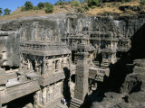 Kailasa Hindu Temple, 1200 Years Old, Carved in In-Situ Basalt Bedrock, Unesco World Heritage Site Photographic Print by Tony Waltham