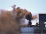 Smoke from Nickel Smelter, Nicaro, Hoguin, Cuba, West Indies, Central America Photographic Print by Tony Waltham