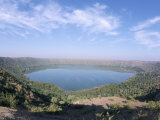 Lonar Meteorite Crater, World's Only Impact Crater in Basalt, Deccan Plateau, Maharashtra, India Photographic Print by Tony Waltham
