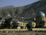 Buildings on the Banks of the Kabul River, Central Kabul, Kabul, Afghanistan Fotografiskt tryck av Jane Sweeney