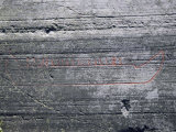 Rock Carvings Between 2000 and 6000 Years Old on Ice Striations, Hjemmeluft Alta, Norway Photographic Print by Tony Waltham