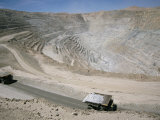 Chuqui Open-Pit Copper Mine, 4Km Long, 720M D Eep, Chuquicamata Photographic Print by Tony Waltham