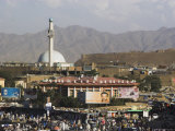 City Centre and Walls of Bala Hissar, Kabul, Afghanistan Photographic Print by Jane Sweeney