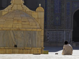 Boy Praying in Courtyard of Friday Mosque, Herat, Afghanistan Photographic Print by Jane Sweeney