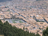 Plaza De Armas and City Centre, Seen from Sacsayhuaman, Cuzco, Peru, South America Photographic Print by Tony Waltham