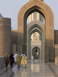 Entrance to Madinat Al Sultan Qaboos, New Main Mosque at Al Khuwayr, Muscat, Oman, Middle East Photographic Print by Tony Waltham