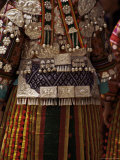 Detail of Silver Ornaments on Festival Dress of a Miao Woman, Langde, Guizhou Province, China Photographic Print by Jane Sweeney