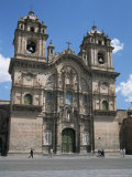Baroque Facade on Plaza De Armas, Jesuit Church of La Compania, Cuzco, Peru Photographic Print by Tony Waltham