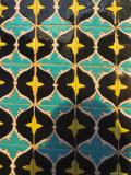 Detail of Tilework, Who was Assissinated in 661, Balkh Province, Afghanistan Photographic Print by Jane Sweeney