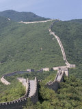 Restored Section of the Great Wall, Mutianyua,, Northeast of Beijing, China Photographic Print by Tony Waltham