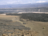 Lavas from Ardoukoba Volcano in Rift Valley 152M Below Sea Level, Afar Triangle, Djibouti, Africa Photographie par Tony Waltham