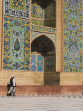 Man Carrying Kettle Walks Past Friday Mosque (Masjet-Ejam), Herat, Herat Province, Afghanistan Photographic Print by Jane Sweeney